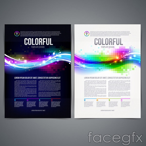 Stylish single page design vector