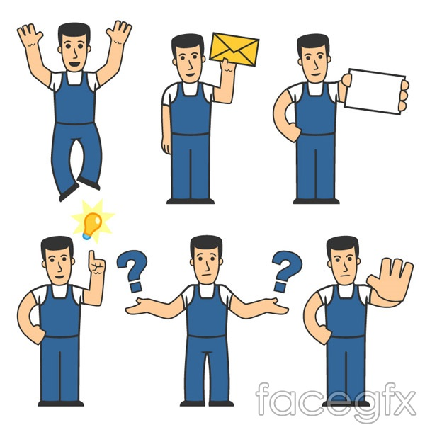 Cartoon Design workers vector