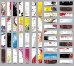 Fashion show banners vector