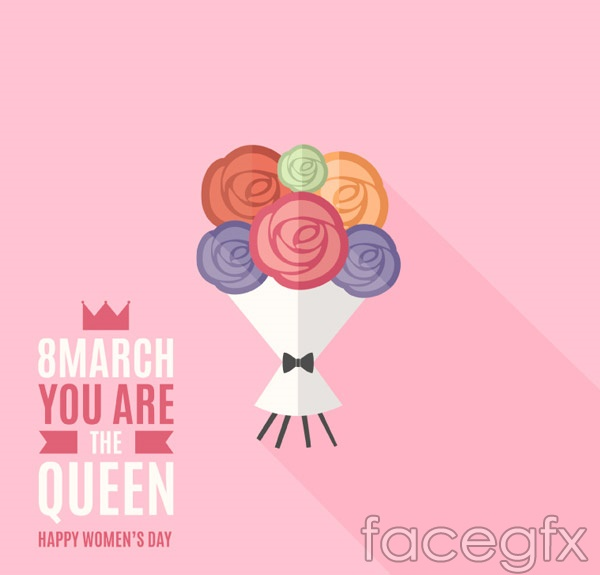 Women's Day greeting cards vector