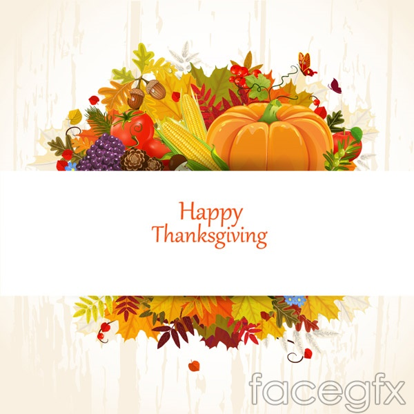 Autumn Thanksgiving cards vector