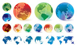 Earth elements vector