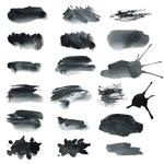 Brush strokes-vector
