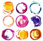 Watercolor design ring vector