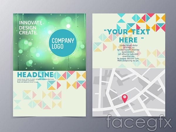 Fashion flyers design vector
