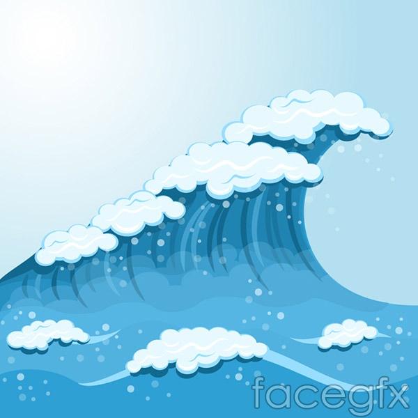 Sea spray vector