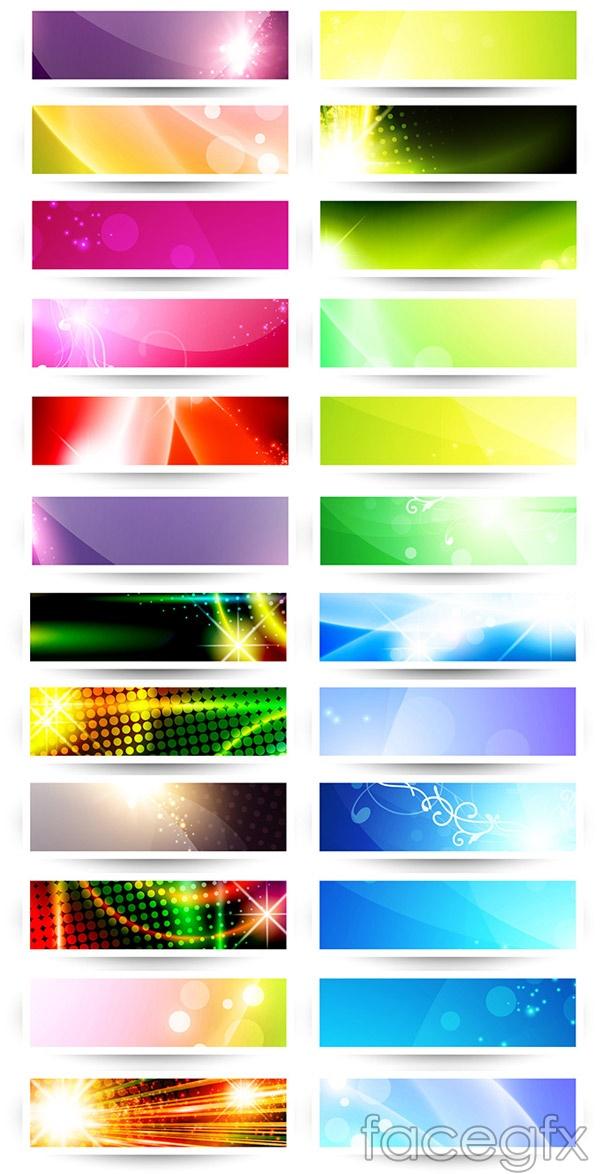 Cool banner design vector