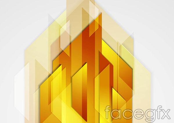 Combination polygon background vector
