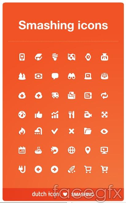 Fine small icon vector
