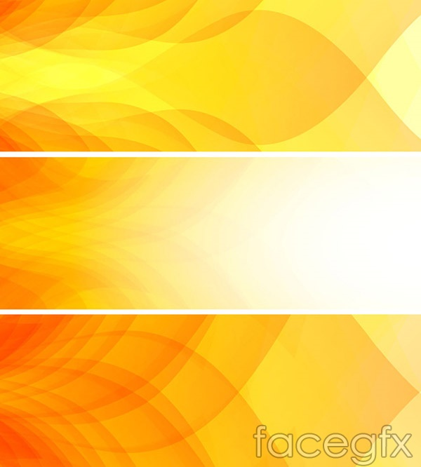 Stylish yellow banner vector