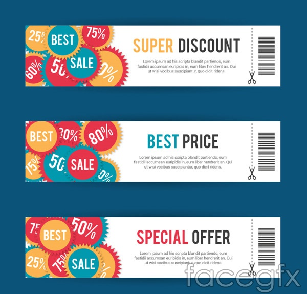Discount gift cards vector