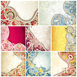Creative floral designs vector