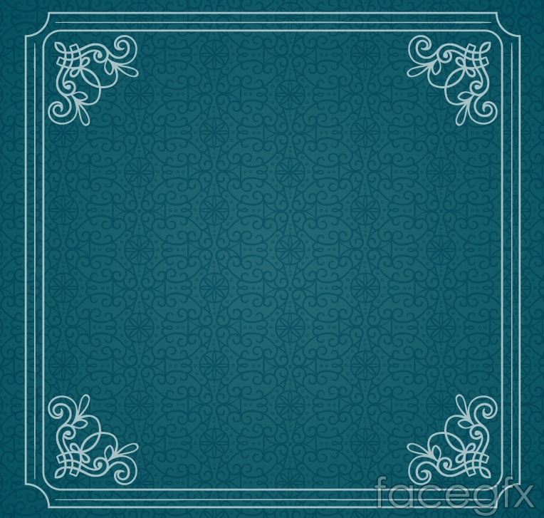 Simple green pattern border background vector