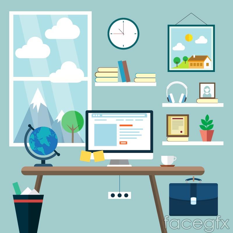 Bright Studio vector illustration