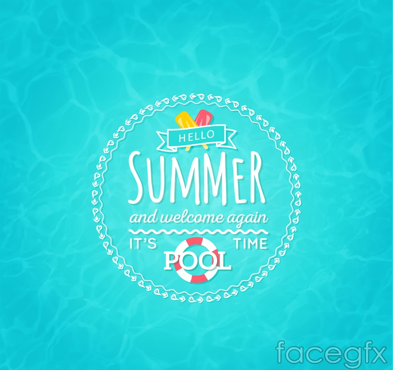 Summer pool poster vector