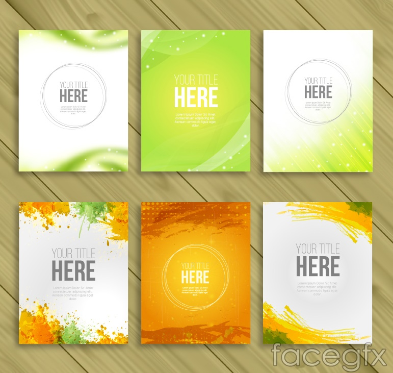 6 fashion business card vector