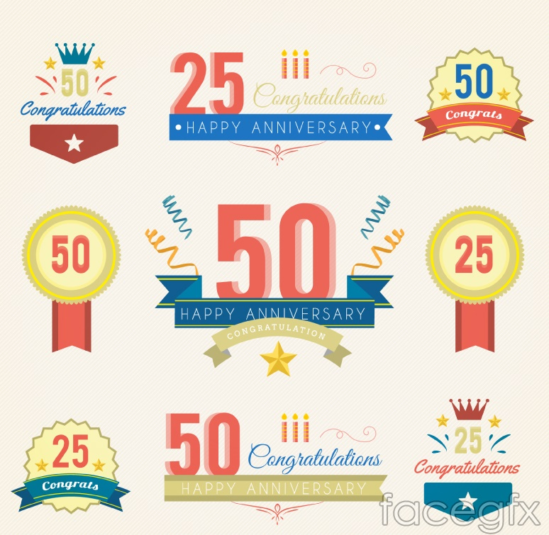 9 anniversary label vector diagrams