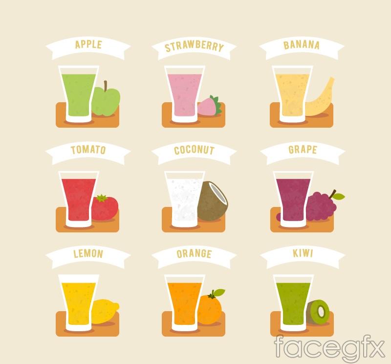 9 fresh juice vector