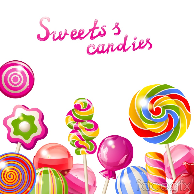 Delicious candy background vector