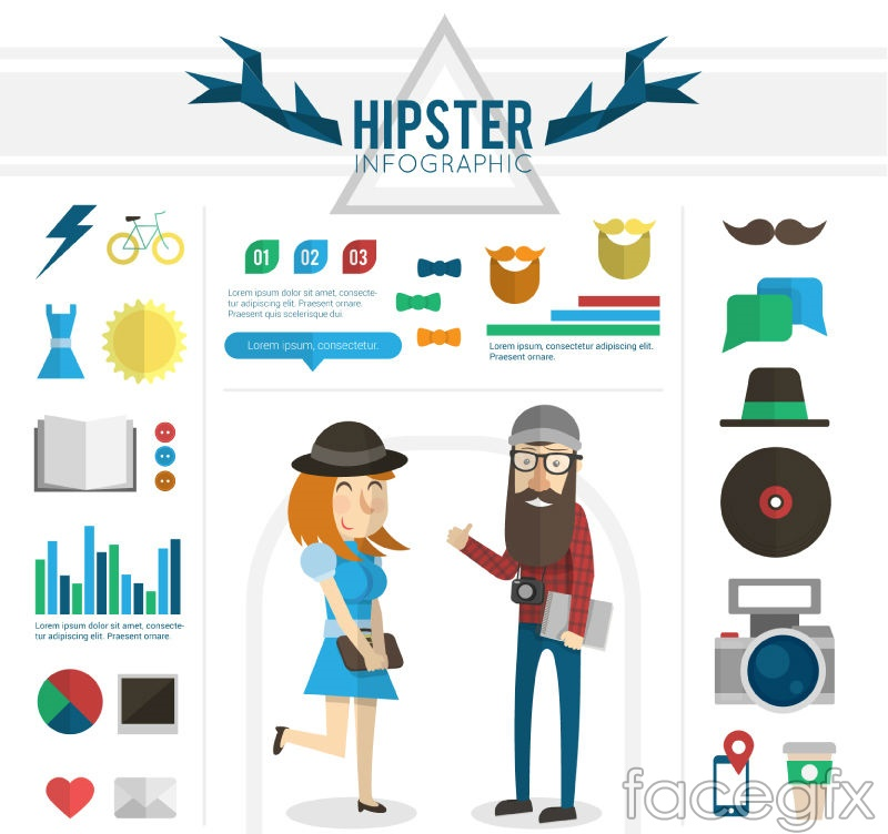 Fashion compressed infographic vector