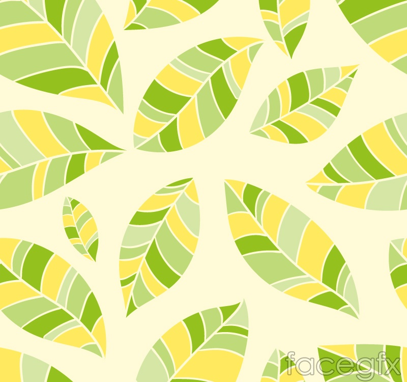Seamless vector background color leaves