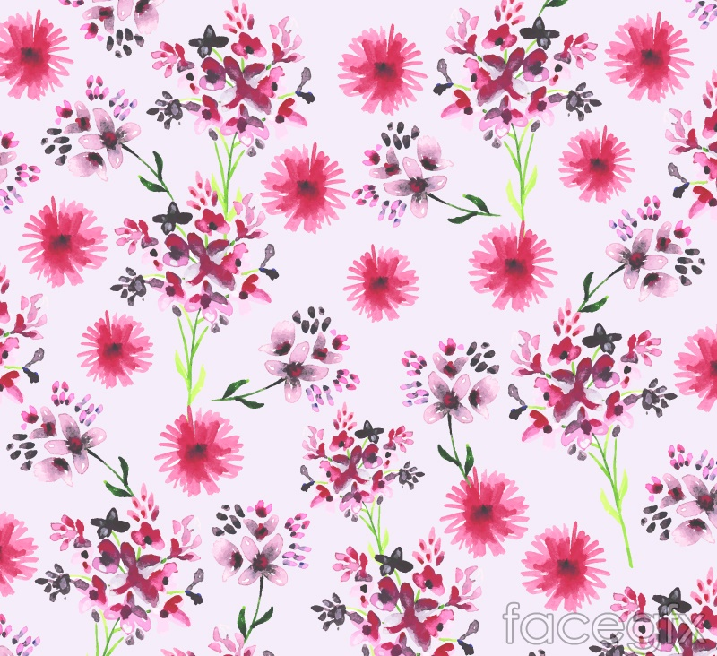 Small floral seamless background vector