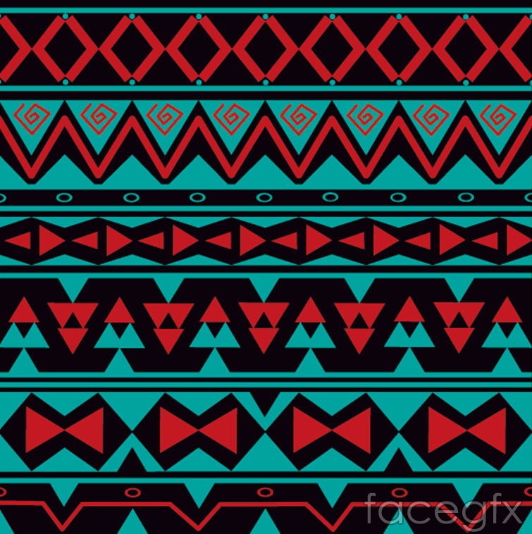 Tribal style seamless vector background illustration
