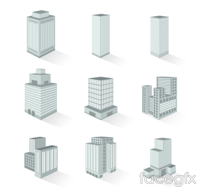 9 creative 3D icon vector