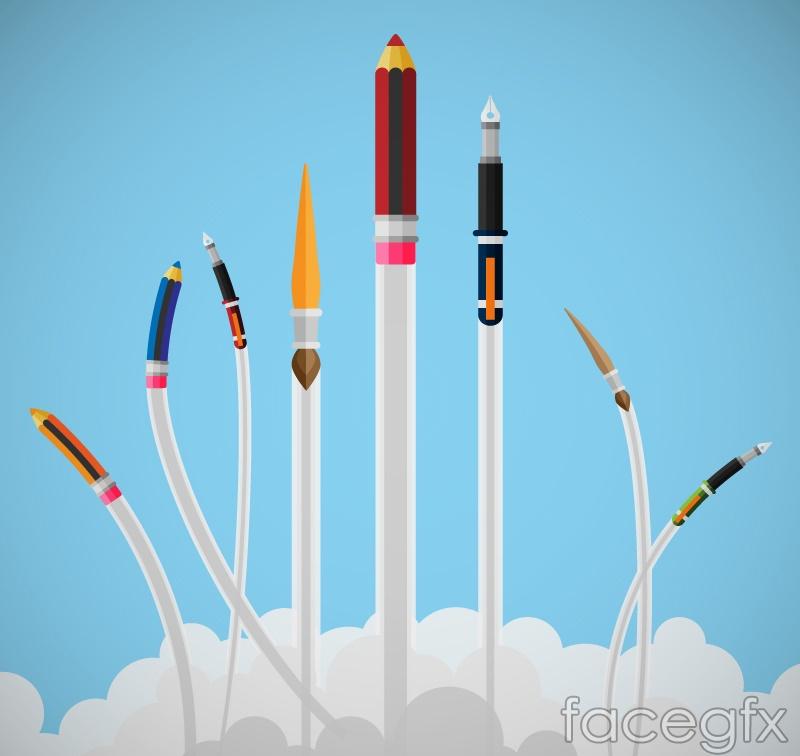 Creation of cartoon stationery vector