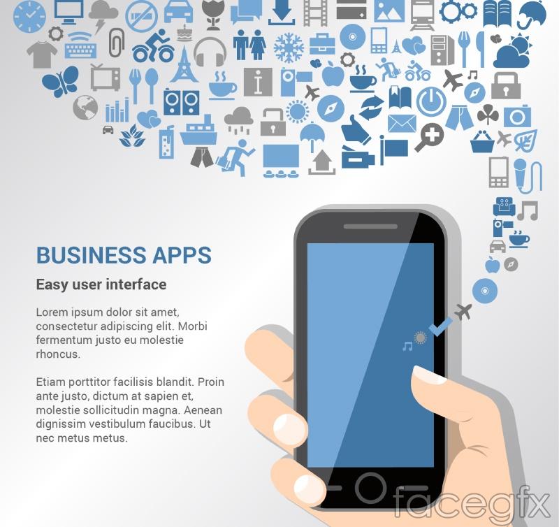 Creative business applications Illustrator vector diagrams
