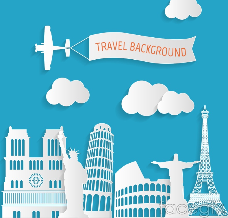 Creative travel clip art vector