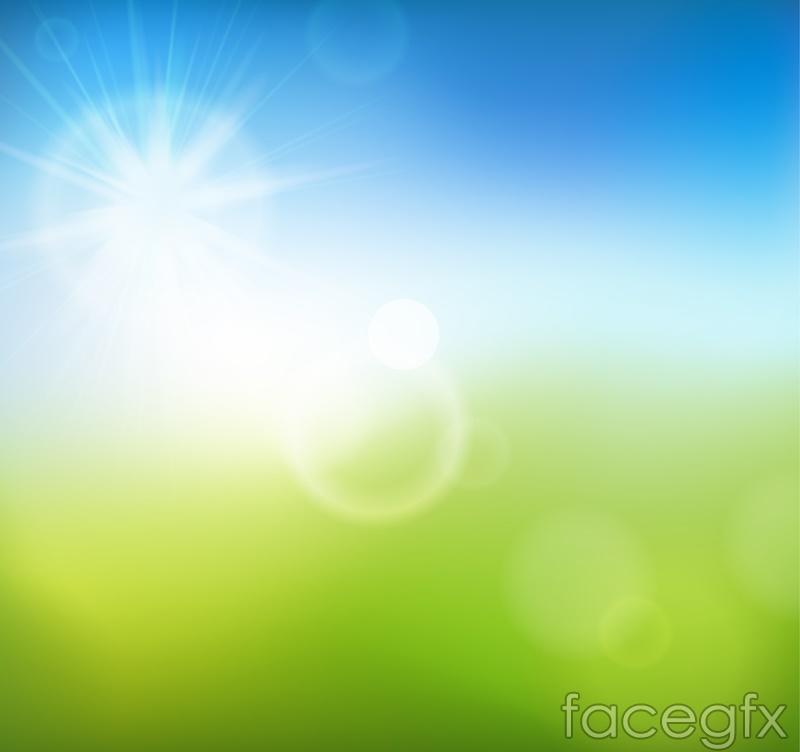 Fantastic summer sun vector background
