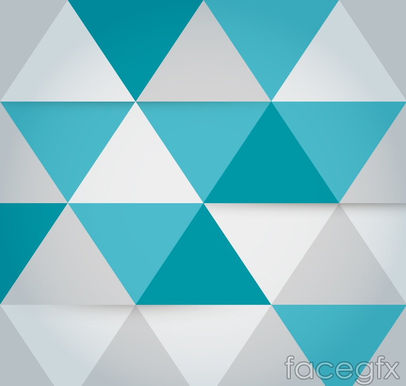 Fashion triangle mosaic background vector