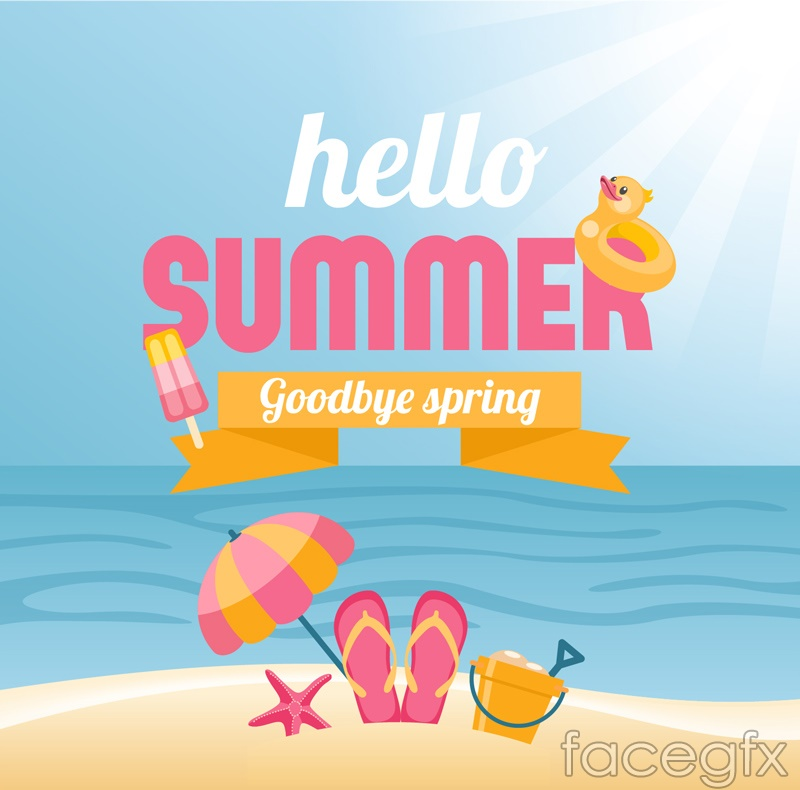 Spring and summer poster vector