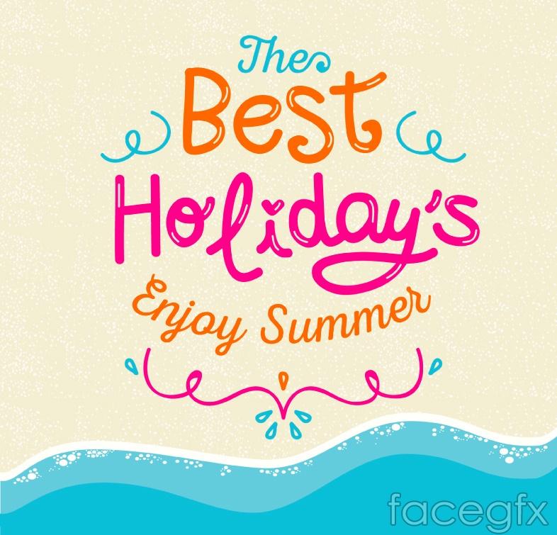 Summer art poster vector