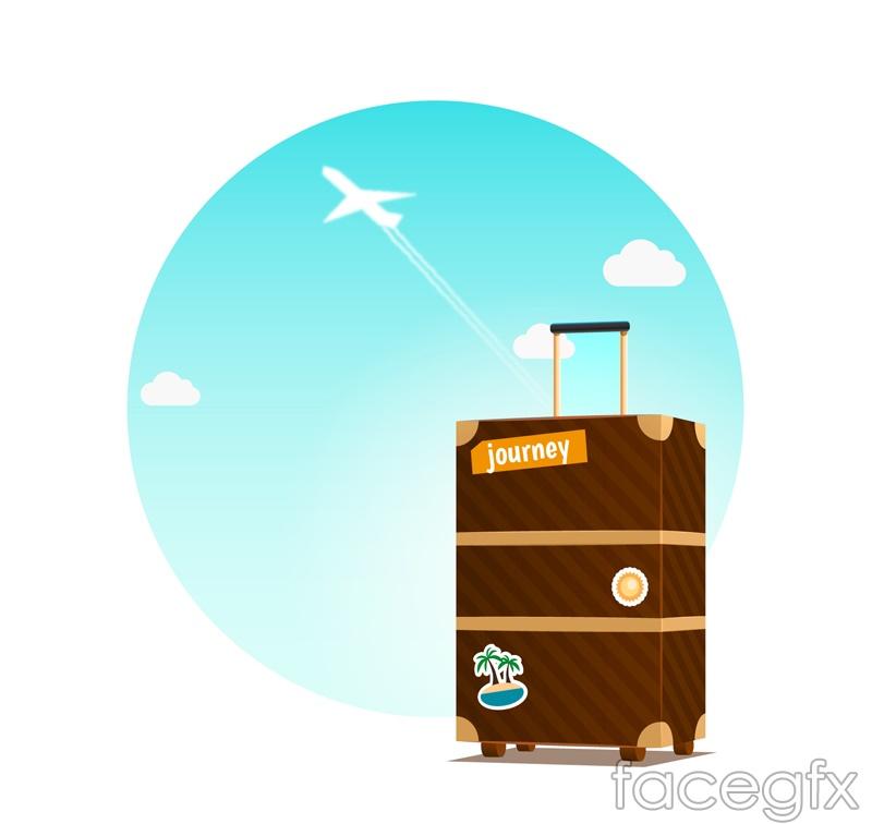 Vector illustration creative suitcase