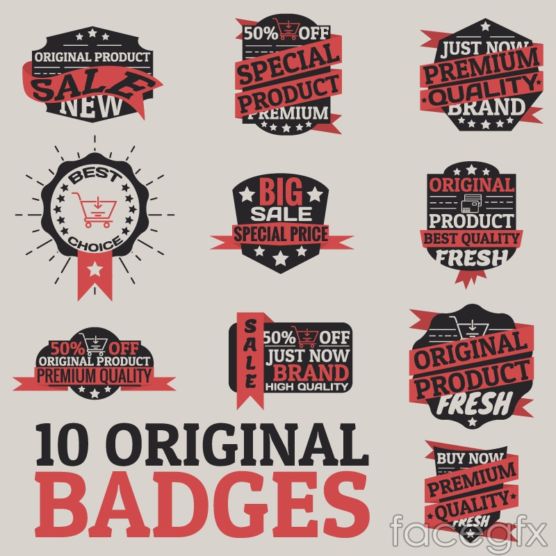 10 vintage promotional tag vector