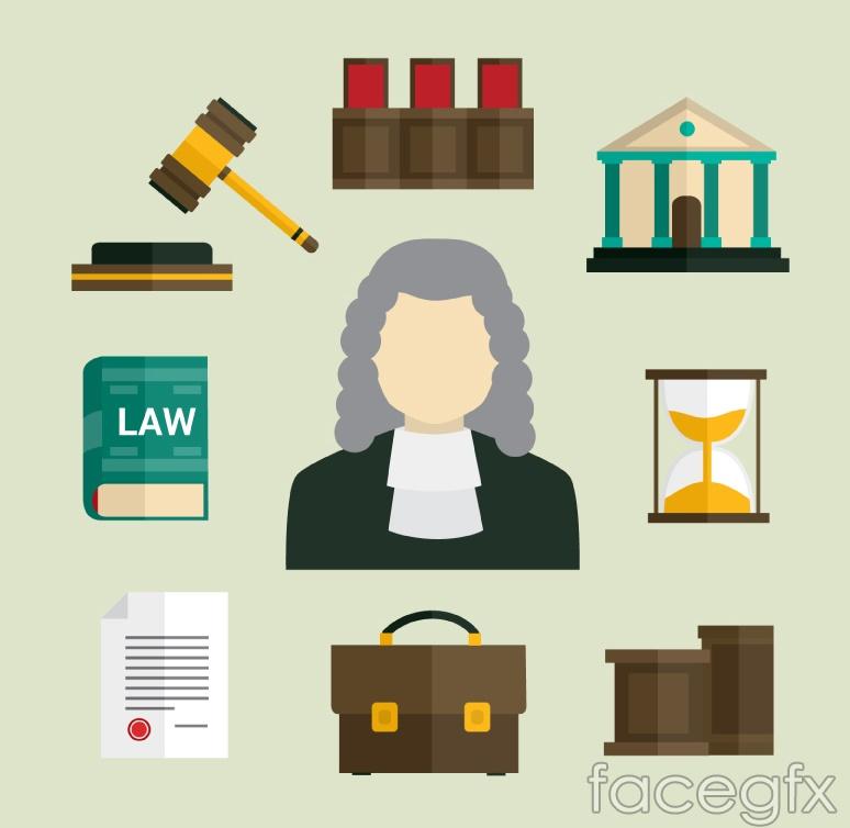 9 legal elements vector