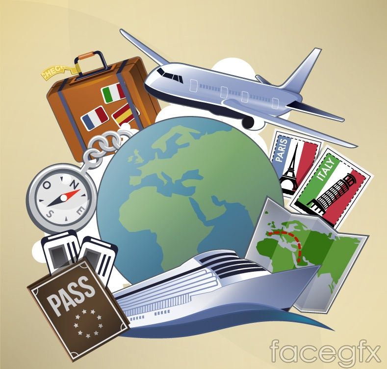 Beautiful travel vector illustration