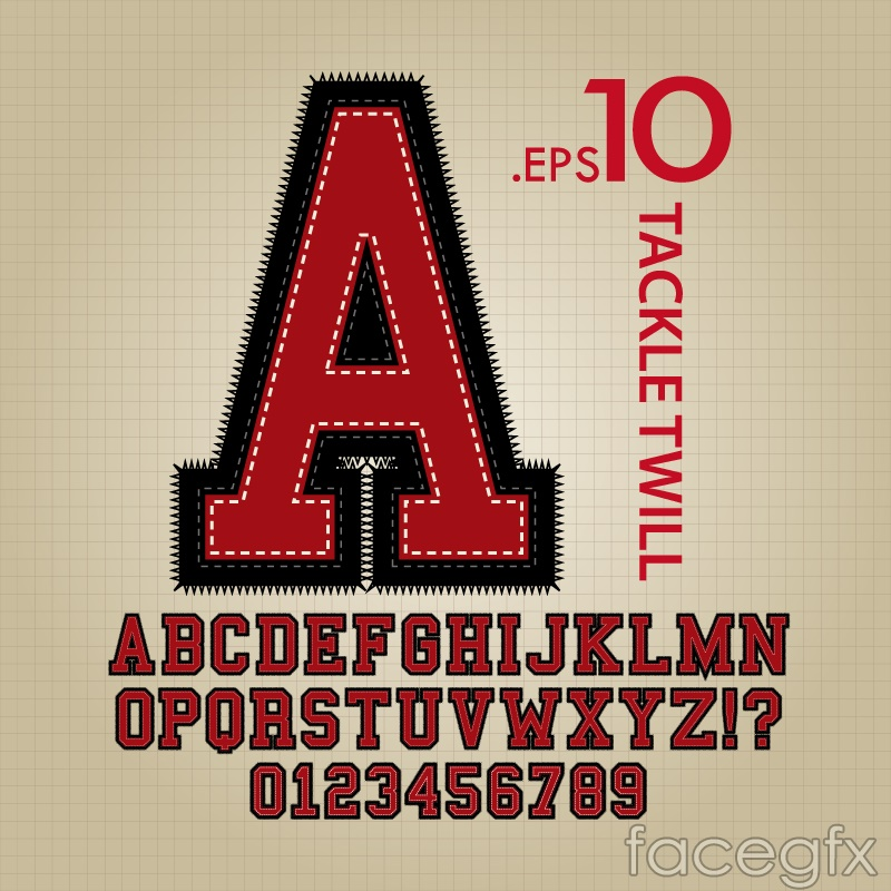 Creative applied letter design vector