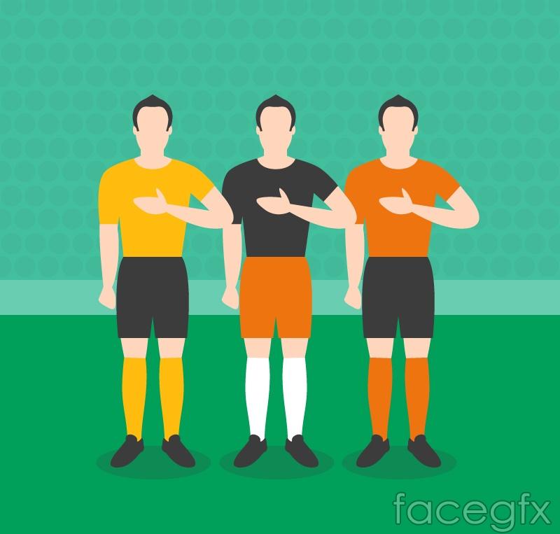 Creative football player design vector