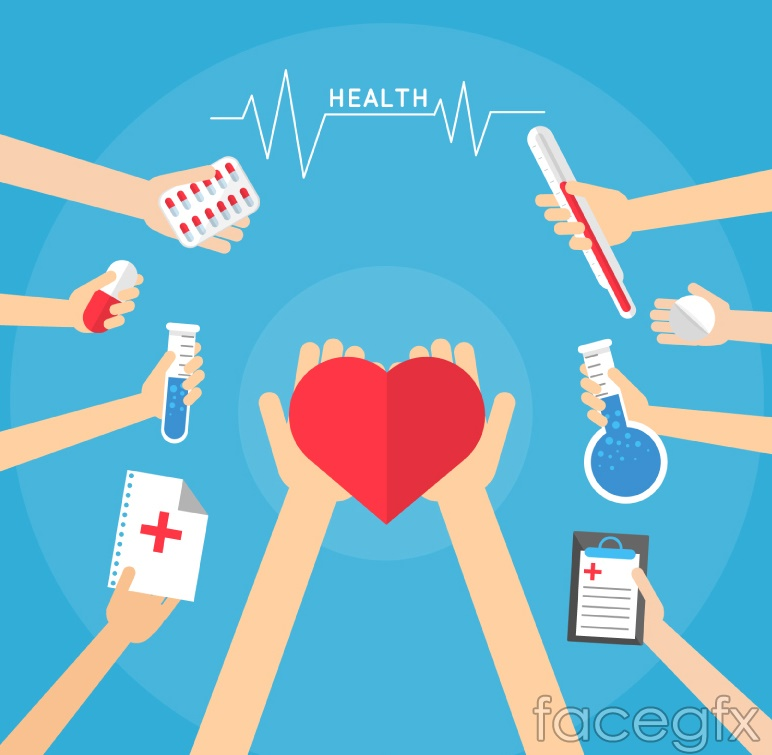 Creative medical vector illustration