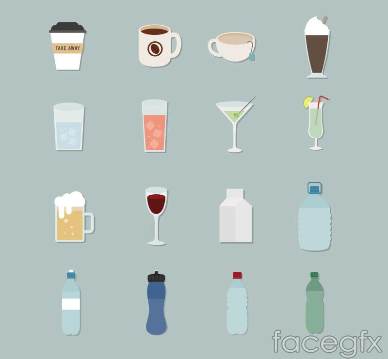 16 beverage icon vector
