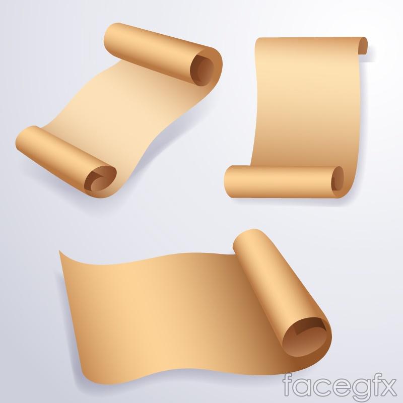 3 crimping paper vector