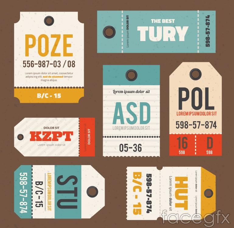 7 sales tag design vector