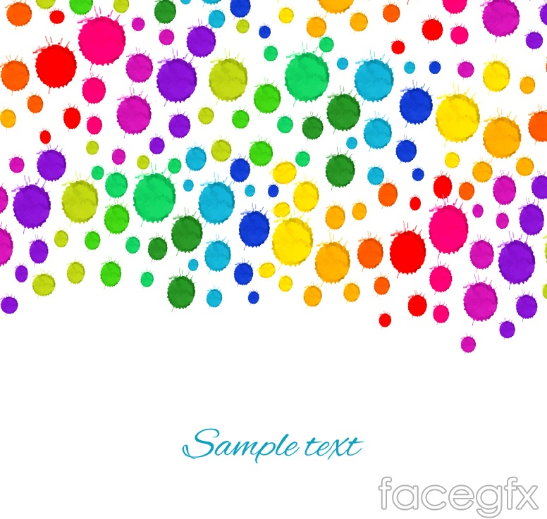 Colorful watercolor dots background vector