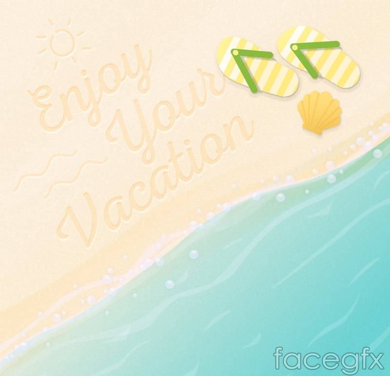 Fresh summer beach vector