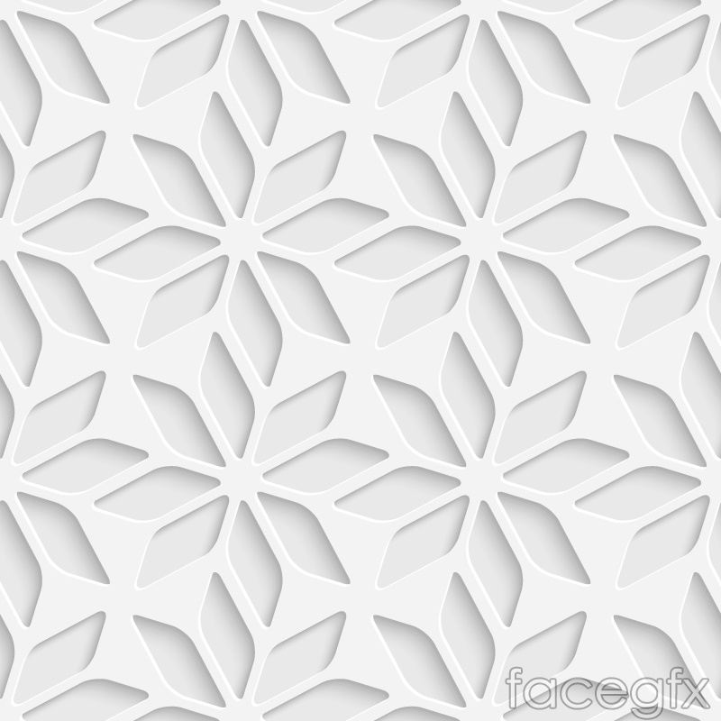 Hollow pattern seamless vector background