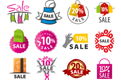 16 color promotional logo vector