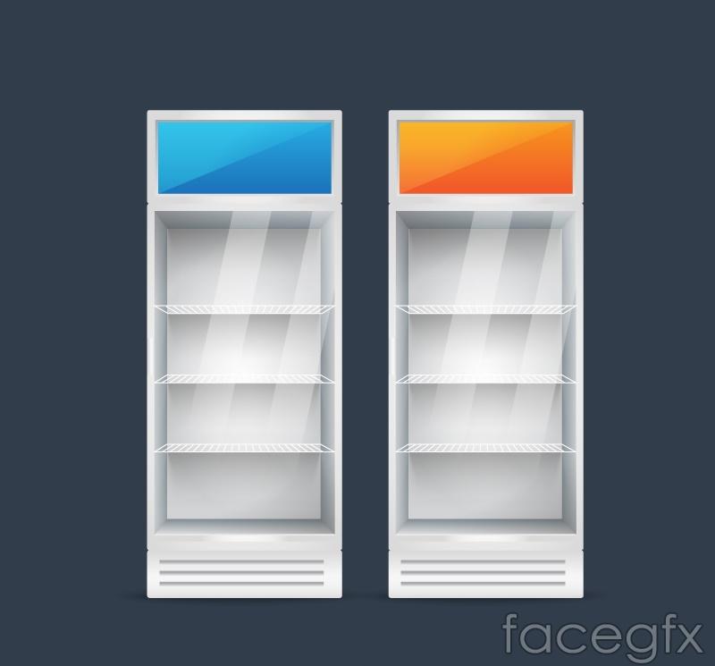 2 color vertical freezers vector